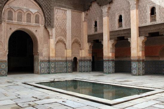 monuments marrakech medersa Ben Youssef