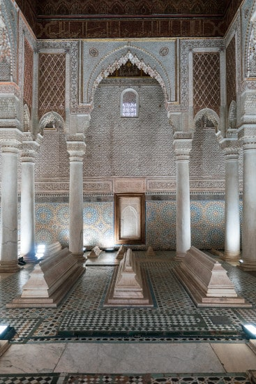 monuments marrakech tombeaux saadiens